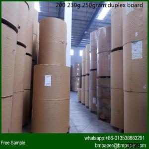 China 230g / 250g / 300g / 350g / 400g / 450g grey back duplex board / coated duplex board paper on sale