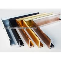 China Modern Design Aluminium Picture Frame Mouldings With Narrow Frame Border wholesale