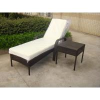 China Outdoor Pool side Sun Lounge Daybed Set Poly Rattan Furniture Cushion Cover wholesale