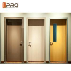 China Fire Resistance MDF Interior Doors Flat Insert Shape For Kindergarten Room wholesale