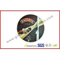 China Round Baileys Chocolate Gift Packaging Boxes With Offset Printing / Ribbon for Wedding Dress on sale