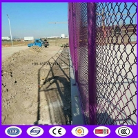 China Pink color chain link fence wire mesh for basketball court made in china on sale