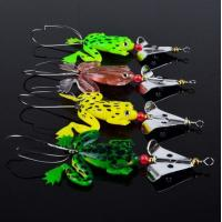 "China Lot 4pcs Rubber Frog Soft Fishing Lures Bass CrankBait Sinking 9cm 3.54"" 6.2g wholesale"