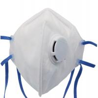 China White Color FFP3 Face Mask , Air Pollution Protection Mask Filtering Respirator wholesale