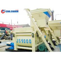 China 1 Cubic Meters Concrete Mixture Machine With Lift , Horizontal Concrete Mixer With Motor wholesale