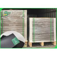 China 1mm Thick Smooth Face Laminated Black Card Board / Book Binding Board For Envelopes 300GSM 350GSM wholesale