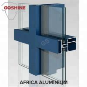 China Foshan 6063 T5 Aluminum curtain wall Profile for Custom Design Made for Tanzania wholesale