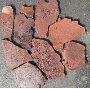 China Red/Brown Lava Stone Random Flagstones,Lava Irregular Flagstones,Basalt Crazy Stones,Lava Random Stones wholesale