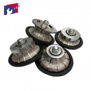 China Nylon Guide Cnc Diamond Router Bits , Practical Diamond Hand Profiler Wheel wholesale
