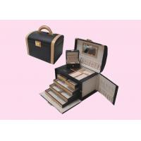 China Promotional Leather Wrapped Wooden Gift Boxes For Jewelry OEM wholesale