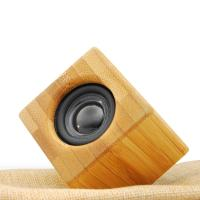 China New Design High Quality  Mini Portable Wood Bamboo Wireless Bluetooth Speaker with LED Light on sale
