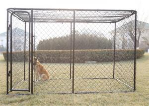 China Galvanized Chain Link 6x8x6.5 Metal Dog Kennel With Pc Frame Box Kit wholesale