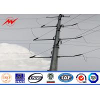 China Power Line 11m 8KN Electrical Power Pole With Galvanizing Surface Treatment wholesale