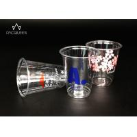 China Juice Clear Plastic Drinking Cups Food Safe Ink Printed Heavy Weight wholesale