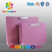 China Square Bottom Customized Paper Bags With Drawstring For Gift / Garment / Shopping on sale