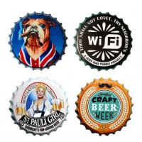 China Factory Directly Price Round Shaped Metal Beer Bottle Cap Restaurant wall hanging For Home Decoration Bar Decoration wholesale