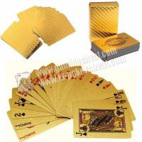 China Magic Cheating Durable Waterproof Plastic 24K Gold Foil Poker 2 Numbers on sale