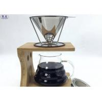 China Washable Cone Coffee Filters Metal Paperless Basket Easy To Use / Clean on sale