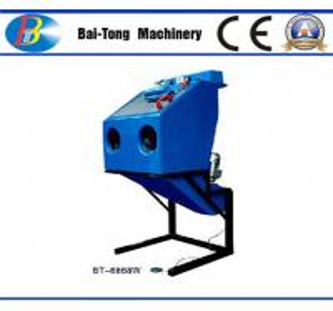 China Dustless Reinforced Wet Sandblasting Cabinet Feed Abrasive 4 - 6kg For Fiberglass wholesale