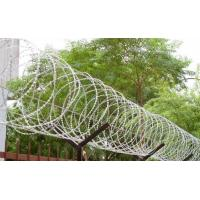 China 450mm - 1050mm Fence Security Wire Razor Barbed Tape Anti Aging Ultra Durable wholesale