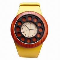 China Hot Sale Unisex Wooden Watch, Bracelet and Leather Strap with New Design Dial wholesale