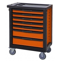 China 7 Drawers Lockable Tool Cabinet Toolbox On Wheels wholesale