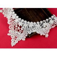 China Emrbroidered Cotton Collar Applique With Retro Guipure Lace Pattern Custom wholesale