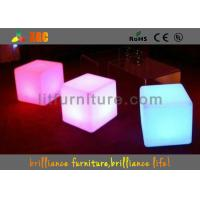 China 16 colors changeable LED Cube Chair / modern round bar stool with huge capacity rechargeable battery wholesale