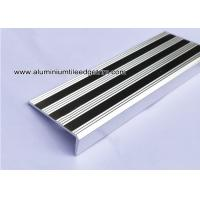 China Replaceable Aluminum Non Slip Stair Treads Anodized Shiny Silver wholesale