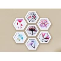 China Solid Wooden Hexagon Picture Frame Set For Home / Hotel Wall Decoration on sale