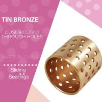 China Distributed Lubrication Oil Holes Wrapped Bronze Bearings CuSn8 CW453K 092 Easy Assembly wholesale