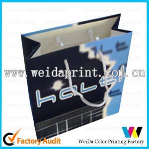 China Pantone PMS / CMYK Popular Purple Retail Printed Paper Shopping Bags of 157gsm - 400gsm art paper on sale