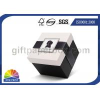 Delicate Folding Paper Jewelry Boxes Wholesale / Printing Small Cardboard Packaging Box