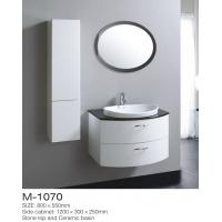 China DIY Build Plywood Bathroom Vanity Cabinet Semicircular Arc Shape Oval LED Mirror on sale