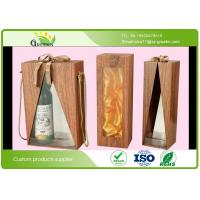 China Matt Lamination Wood Grain Paper Decorative Cardboard Boxes for Wine Packaging on sale