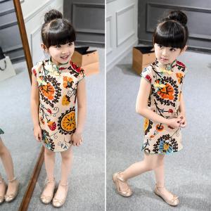 2016 Fashion Girl Kid's Chinese Style Dress Cheongsam Cute dress
