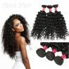 China 6A Peruvian Virgin Curly Hair Extensions / Soft 100% Human Hair Wefts wholesale