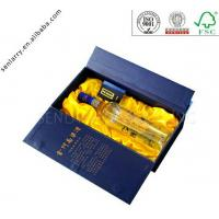 China Luxury high end custom decorative wine box with clear window and rigid tray ex factory price wholesale
