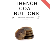 China Round Shape 3.6MM Thickness Resin Trench Coat Buttons on sale