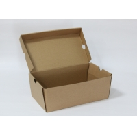 China Custom printed logo corrugated  product mailing packaging box rectangular brown box Shoe boxes on sale