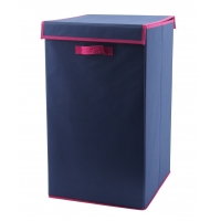 China Attached Handles Soft Closet Organizer , Foldable Storage Box With Lid wholesale