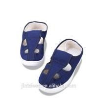 China Blue Anti Static Work Shoes , Short Canvas Shoes Non Woven Fabrics Material wholesale
