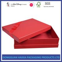 China Red Cover Decorative Gift Boxes With Lids Glossy And Matt Lamination Surface on sale