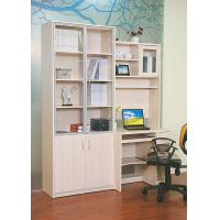 China Wood White Bookcase With Glass Doors , Solid Oak Desks For Home Office wholesale