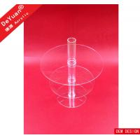 China 8 Tier Stand Wedding Cake Holder Acrylic Display Stands For Cupcake Round on sale