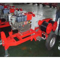 China Honda Engine 5 Ton Double Capstan Winch Cable Pulling Machine For Power Construction wholesale