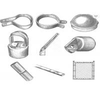 China Hot Dip Galvanized Chain Link Fence Fittings And Accessories Rust Resistance wholesale