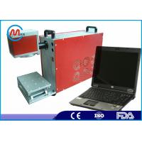 China Steel / Silver / Gold Fiber Laser Marking Machine Automated Safe Type wholesale