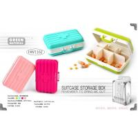 China PILL BOX - SUITCASE DESIGN - 4 ASSORTED COLORS wholesale