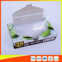 Quality Transparent Plastic Zipper Top Zip Lock Bag For Cold Food Storage FDA Approved for sale